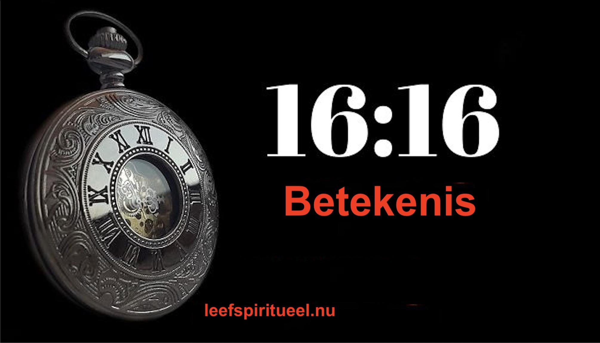 16:16 betekenis dubbel getal